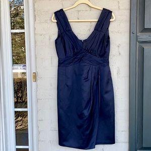 Nanette Lepore navy V-neck cocktail dress